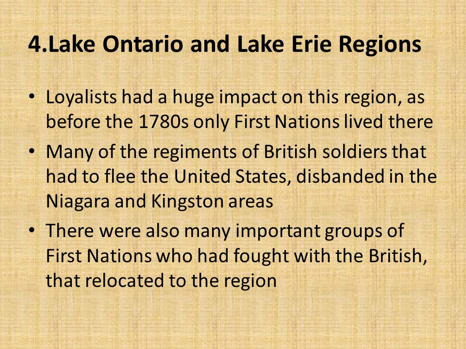 4.Lake Ontario and Lake Erie Regions