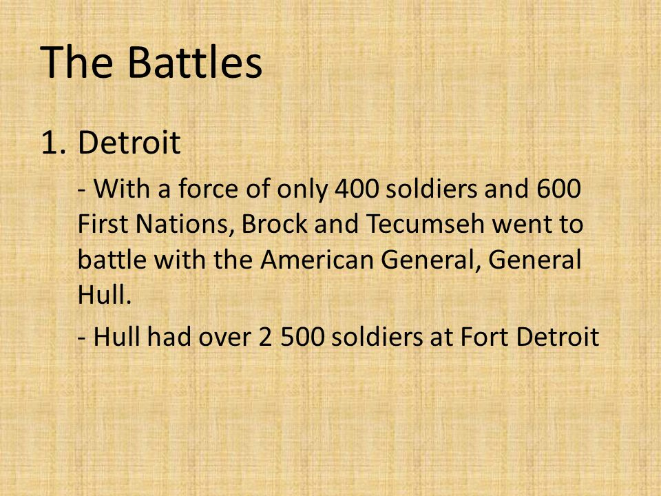 The Battles Detroit.