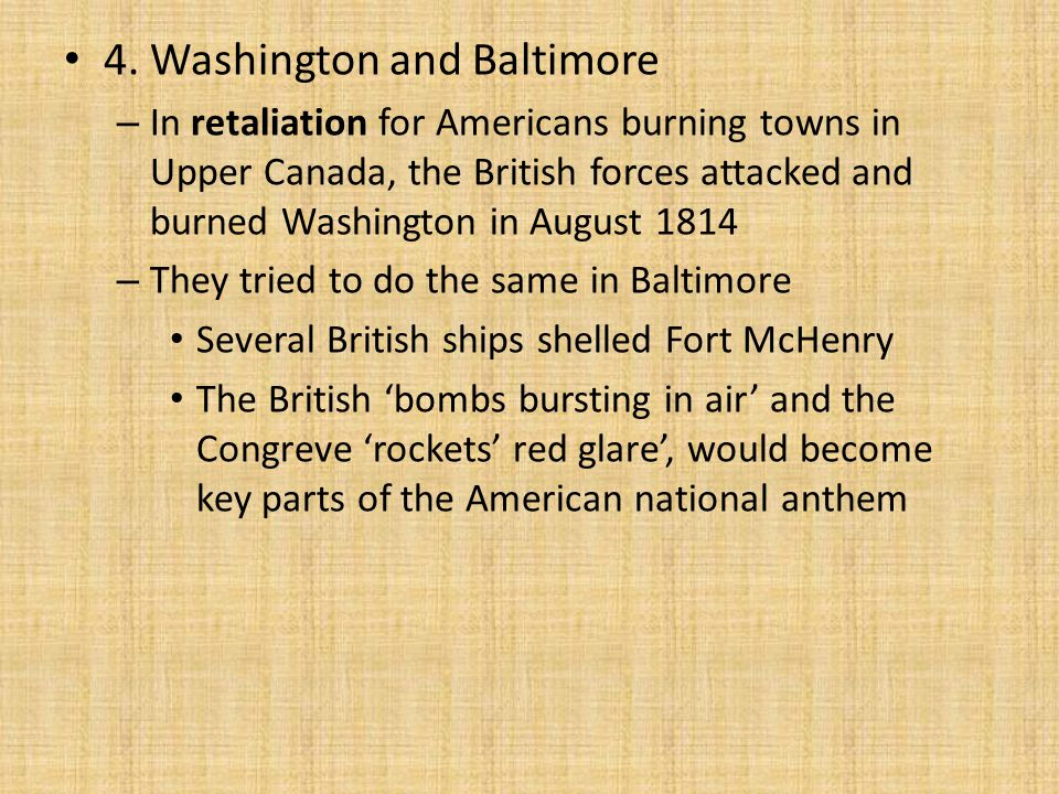 4. Washington and Baltimore