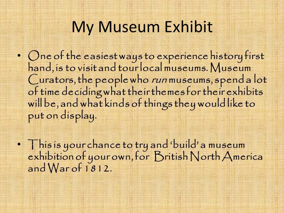 My Museum Exhibit