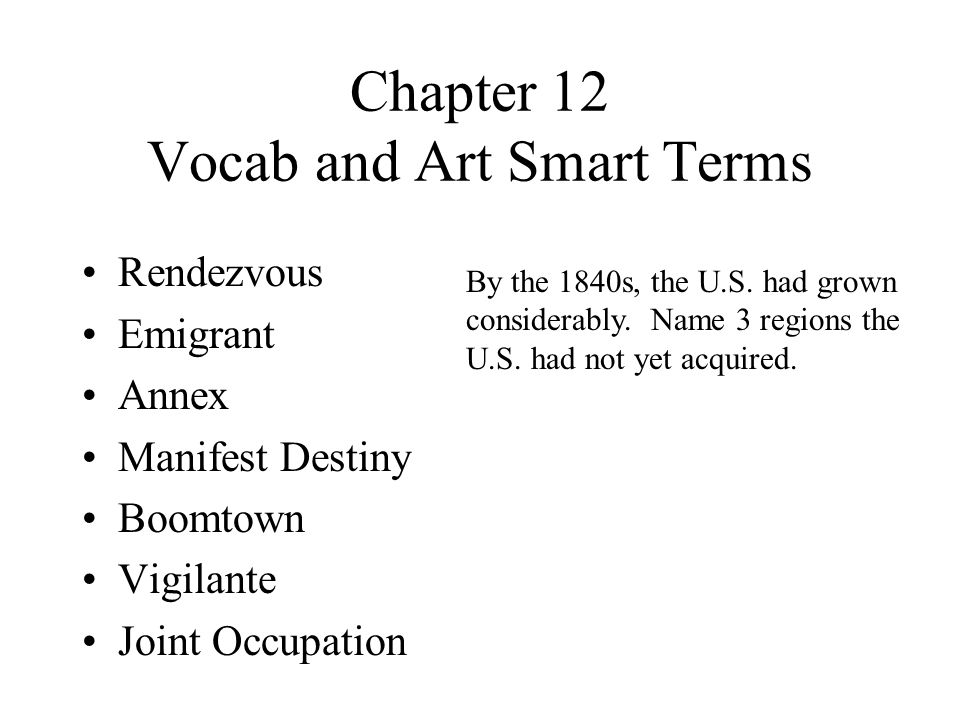 Chapter 12 Vocab and Art Smart Terms