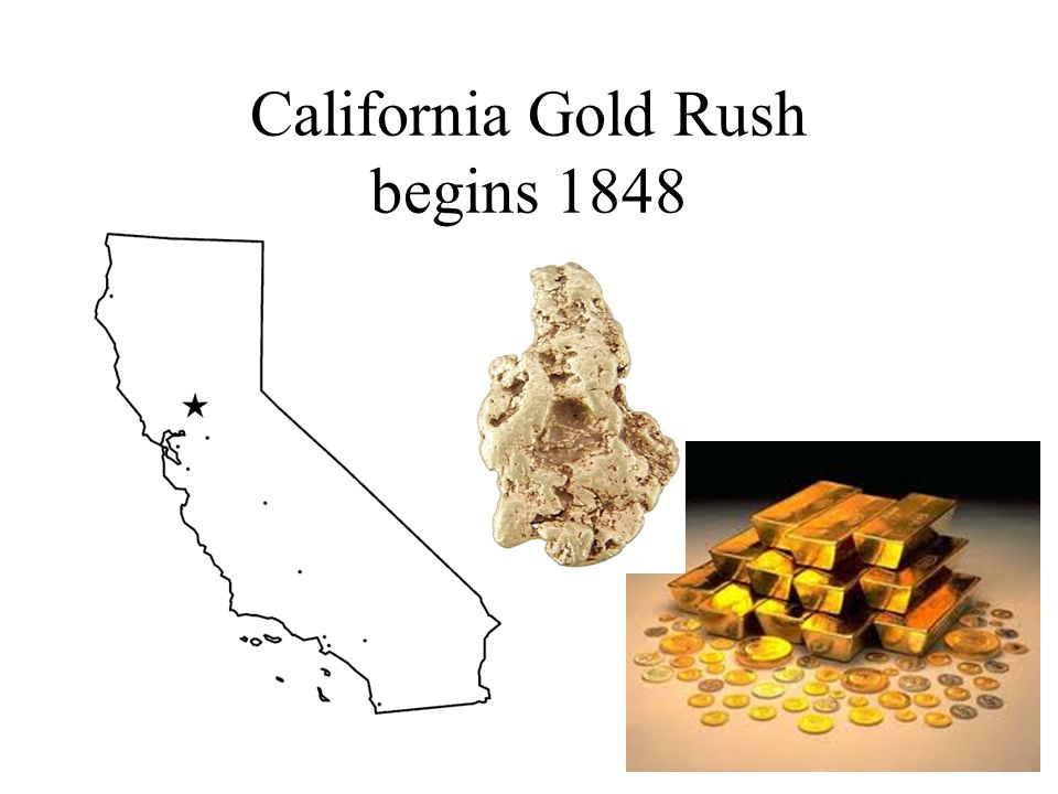 California Gold Rush begins 1848