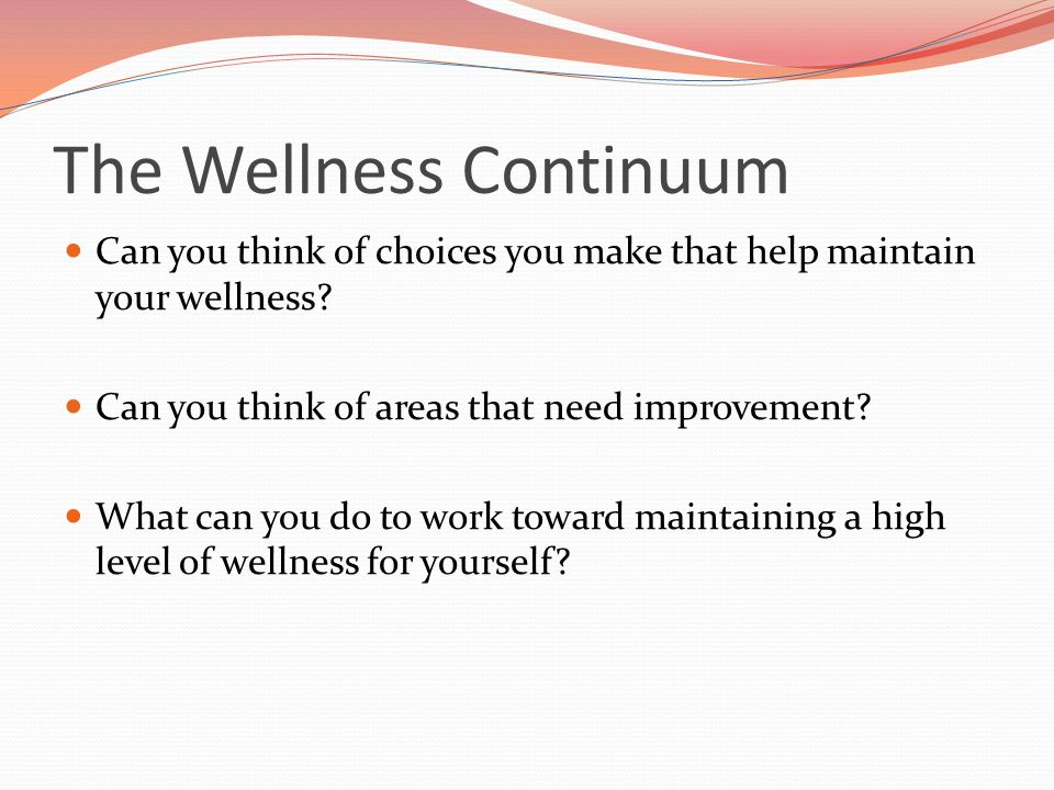 The Wellness Continuum