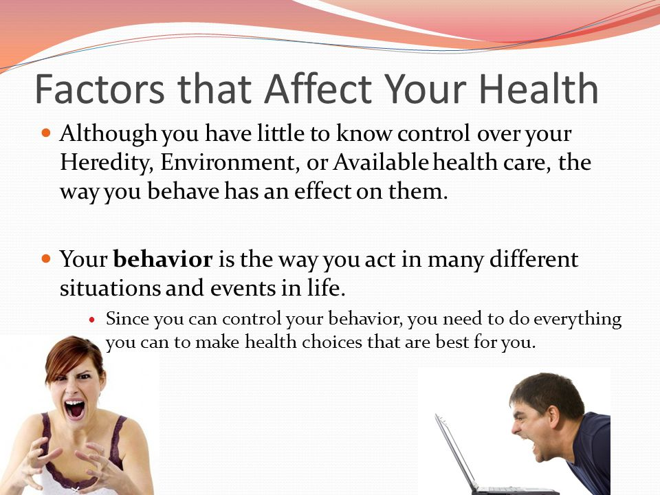factors thata effect health and well-being