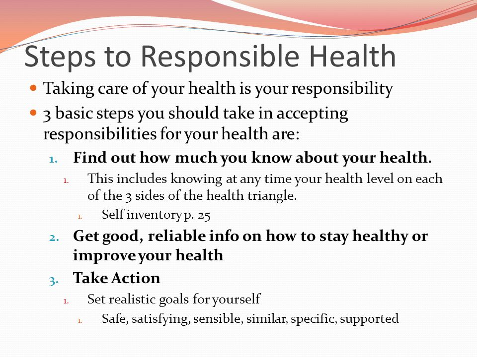 Steps to Responsible Health