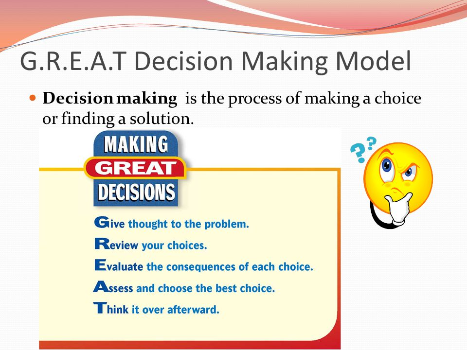 G.R.E.A.T Decision Making Model