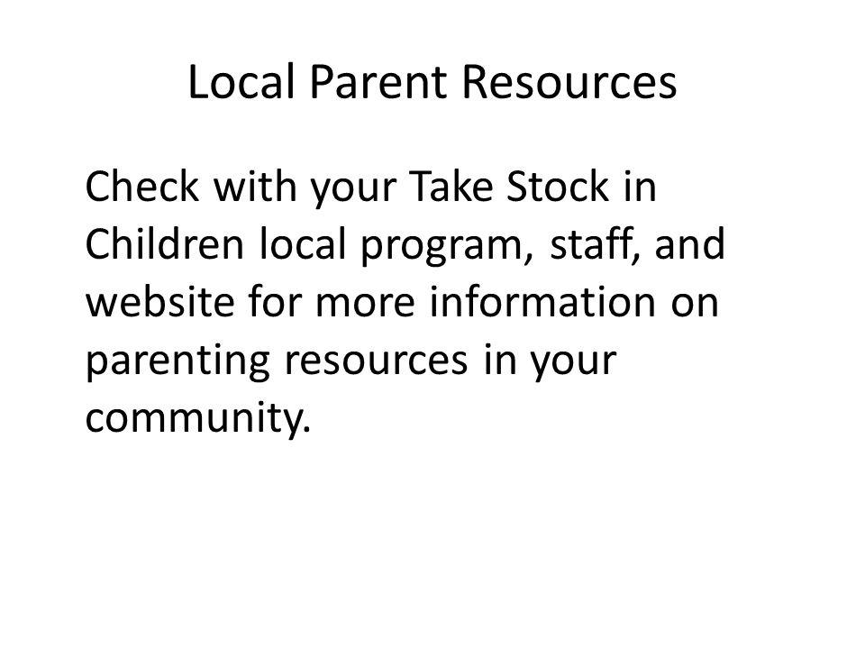Local Parent Resources