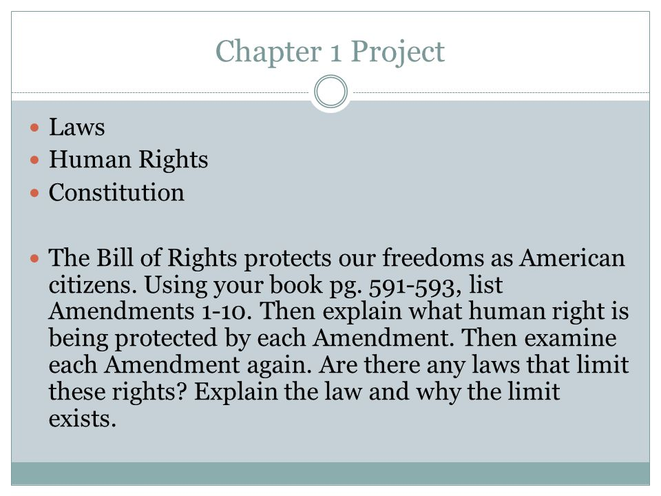 Chapter 1 Project Laws Human Rights Constitution