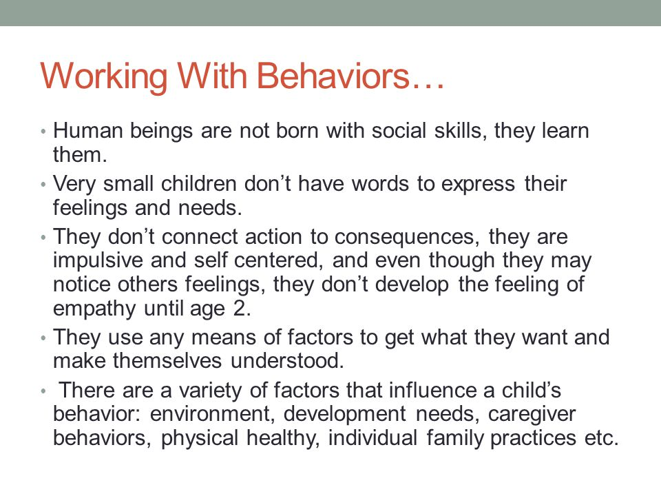 Working With Behaviors…