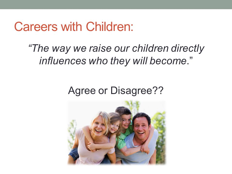 Careers with Children: