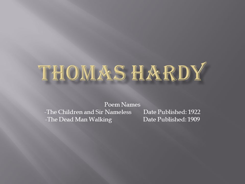 -The Children and Sir Nameless Date Published: 1922