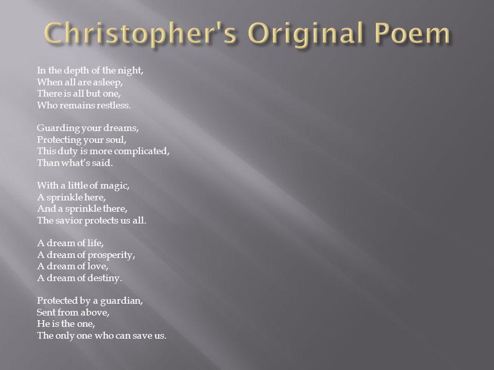 Christopher s Original Poem