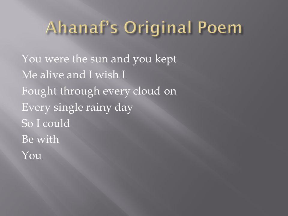 Ahanaf's Original Poem