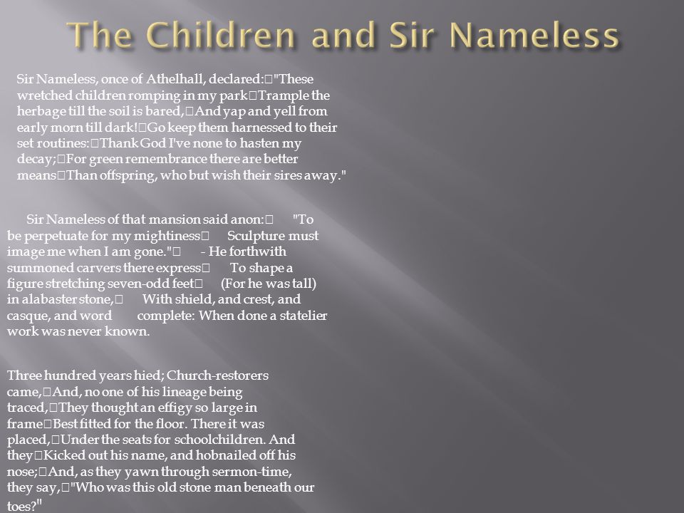 The Children and Sir Nameless