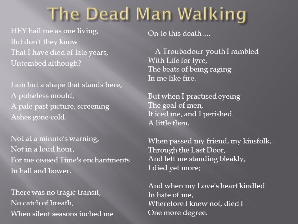 The Dead Man Walking