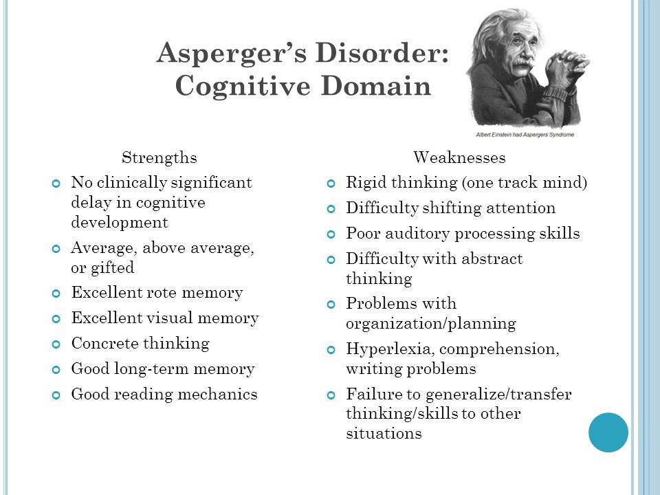 Asperger's Disorder: Cognitive Domain