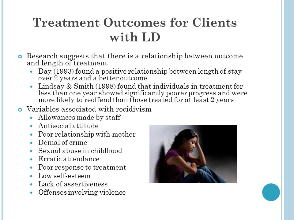Treatment Outcomes for Clients with LD