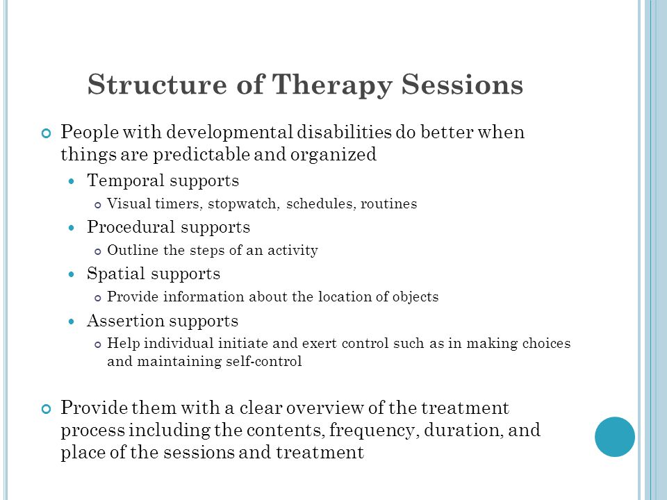 Structure of Therapy Sessions