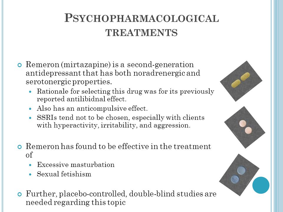 Psychopharmacological treatments