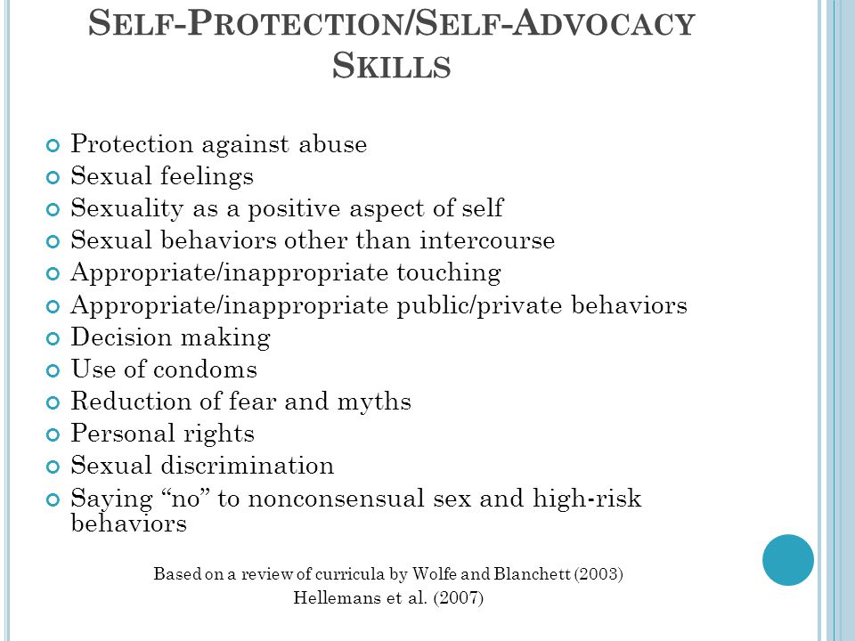 Self-Protection/Self-Advocacy Skills