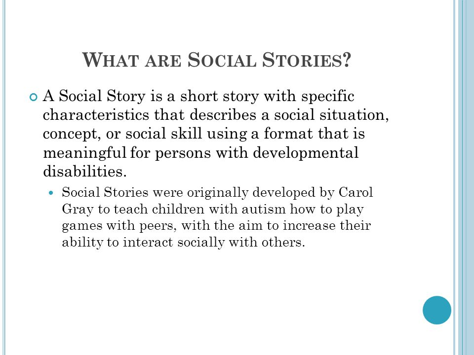 What are Social Stories