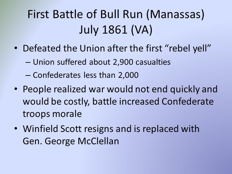 First Battle of Bull Run (Manassas) July 1861 (VA)