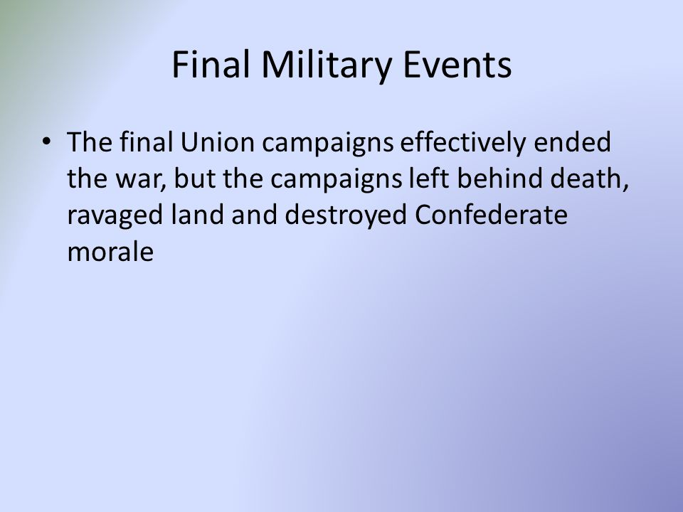 Final Military Events