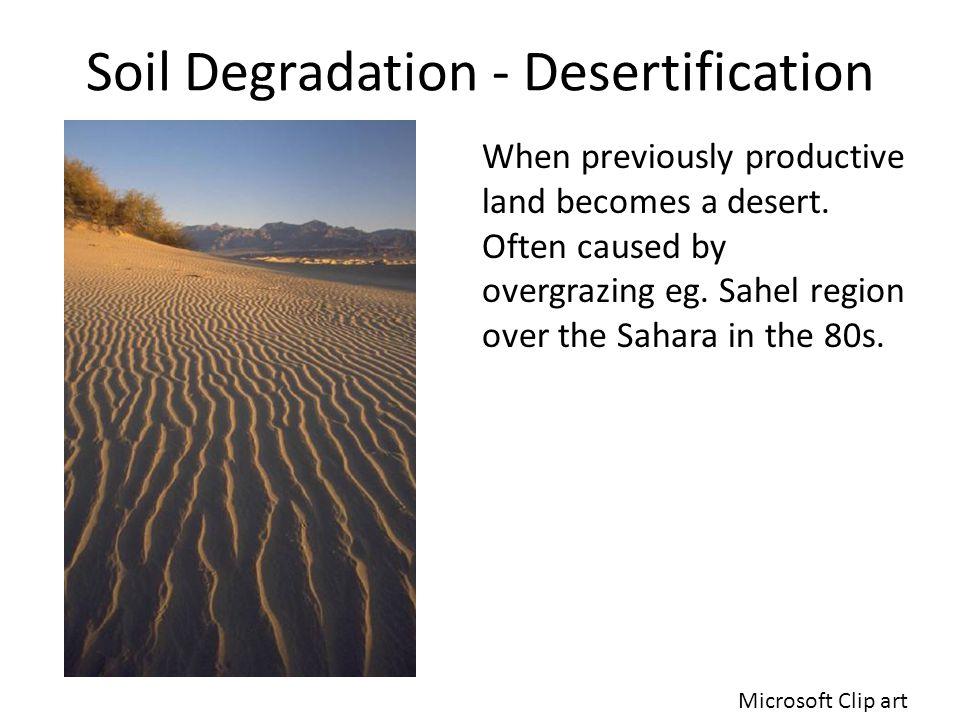 Soil Degradation - Desertification