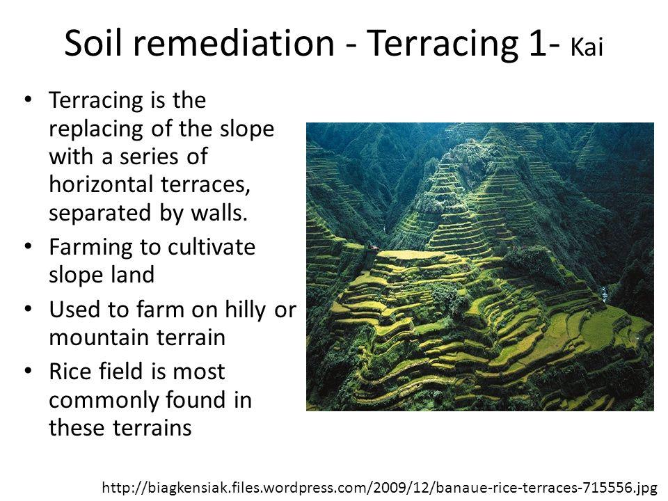 Soil remediation - Terracing 1- Kai
