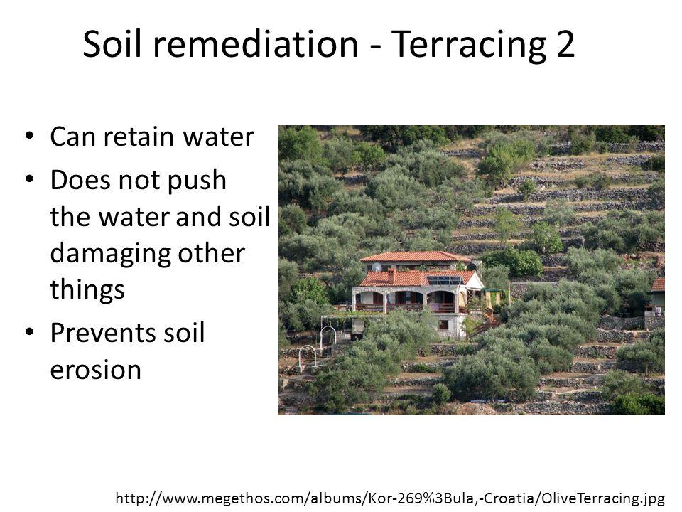 Soil remediation - Terracing 2