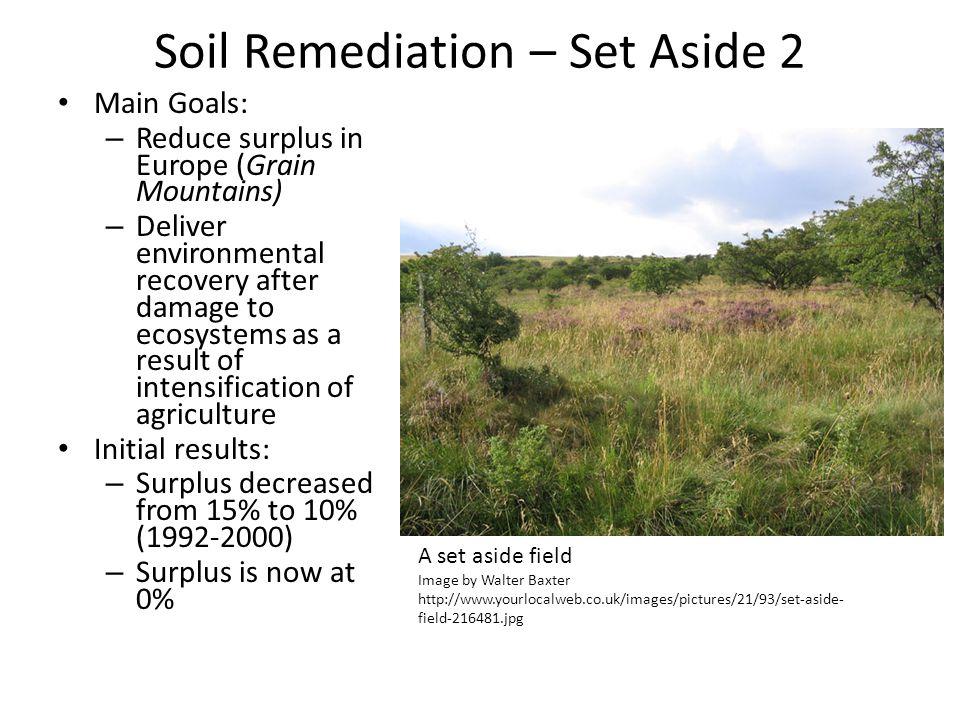 Soil Remediation – Set Aside 2