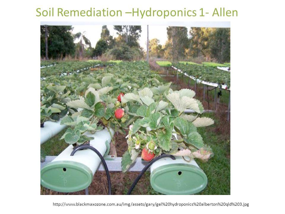 Soil Remediation –Hydroponics 1- Allen