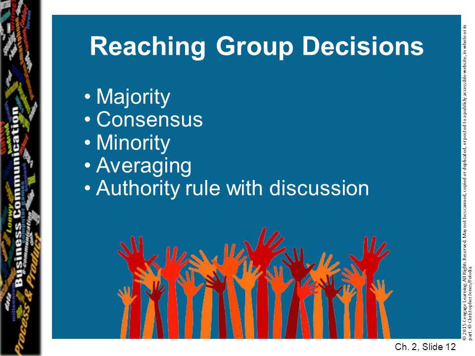 Reaching Group Decisions