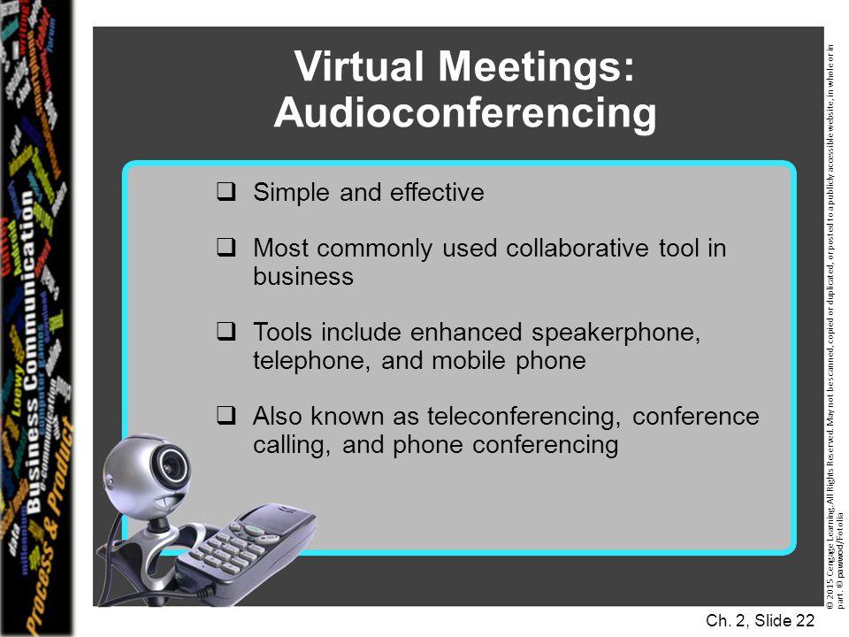 Virtual Meetings: Audioconferencing