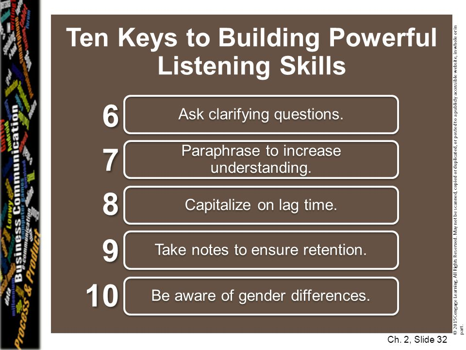 Ten Keys to Building Powerful Listening Skills