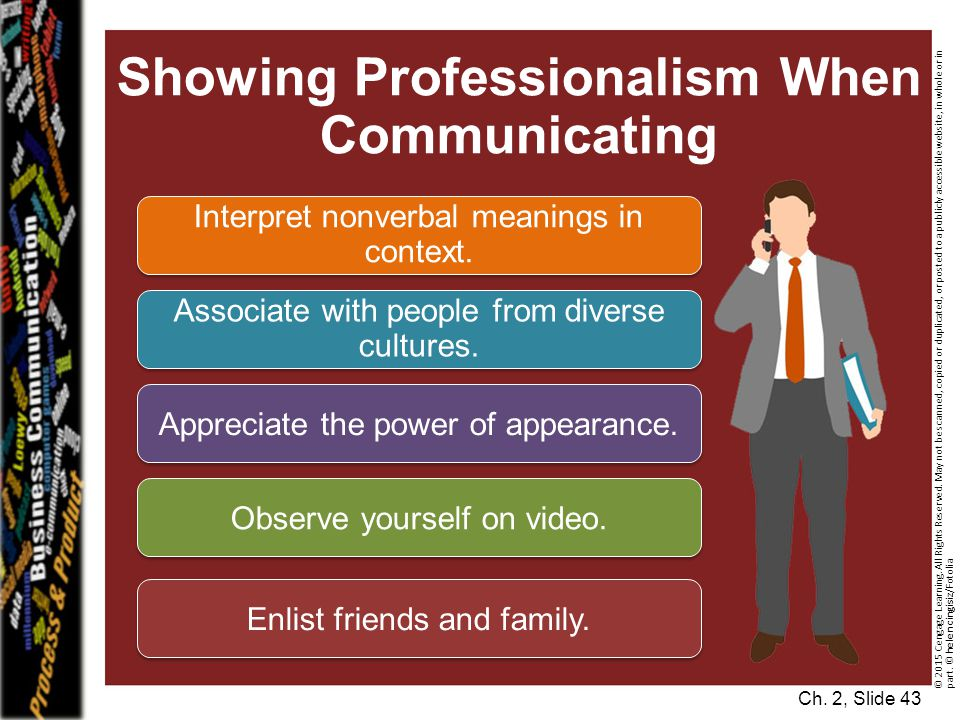 Showing Professionalism When Communicating