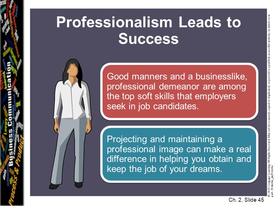 Professionalism Leads to Success