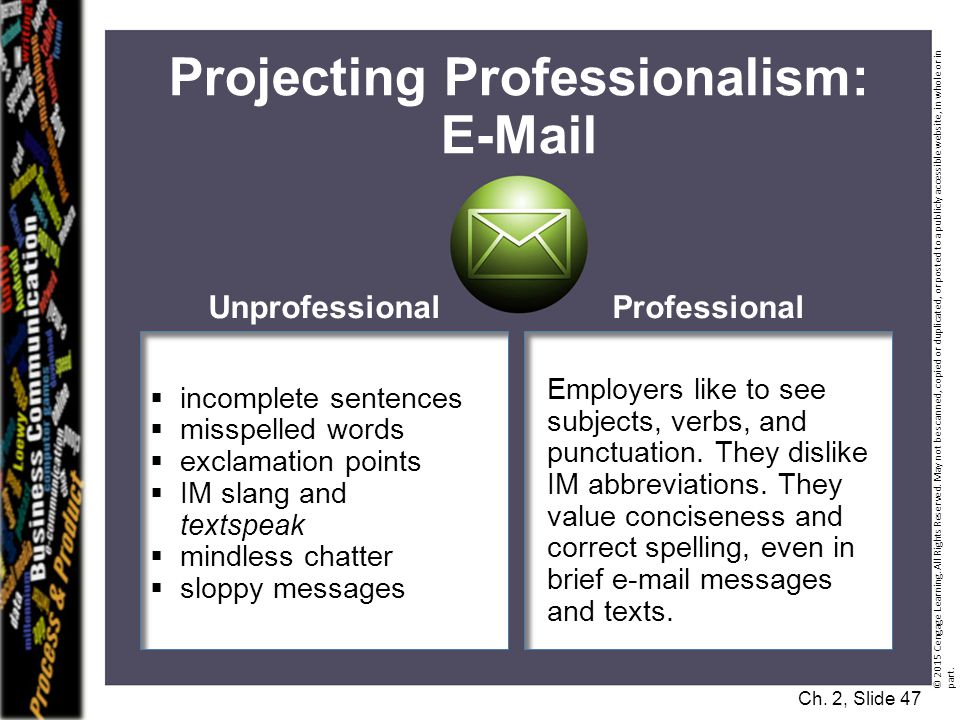 Projecting Professionalism: E-Mail