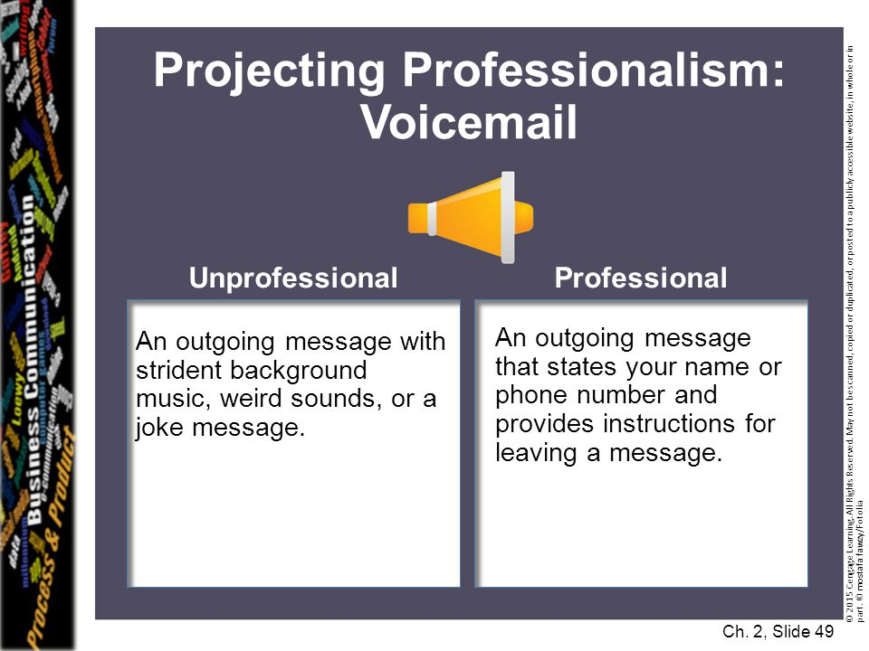 Projecting Professionalism: Voicemail