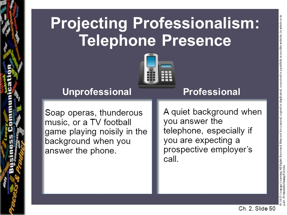 Projecting Professionalism: Telephone Presence