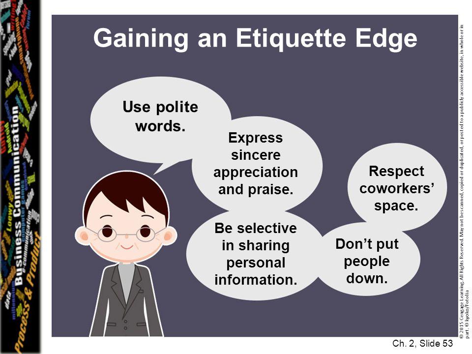 Gaining an Etiquette Edge