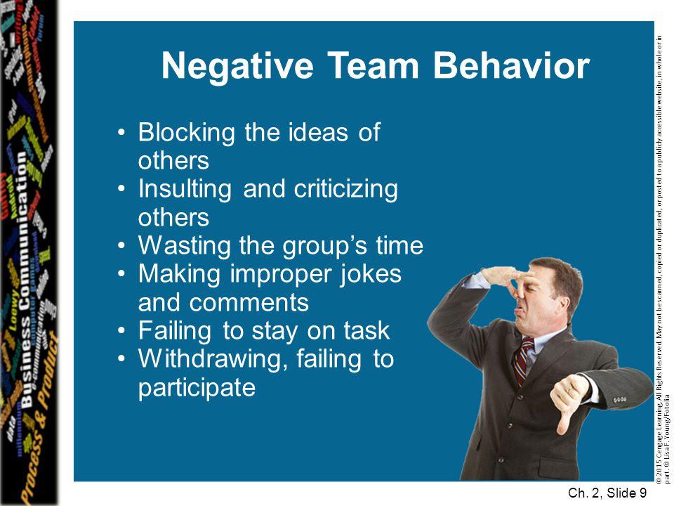 Negative Team Behavior