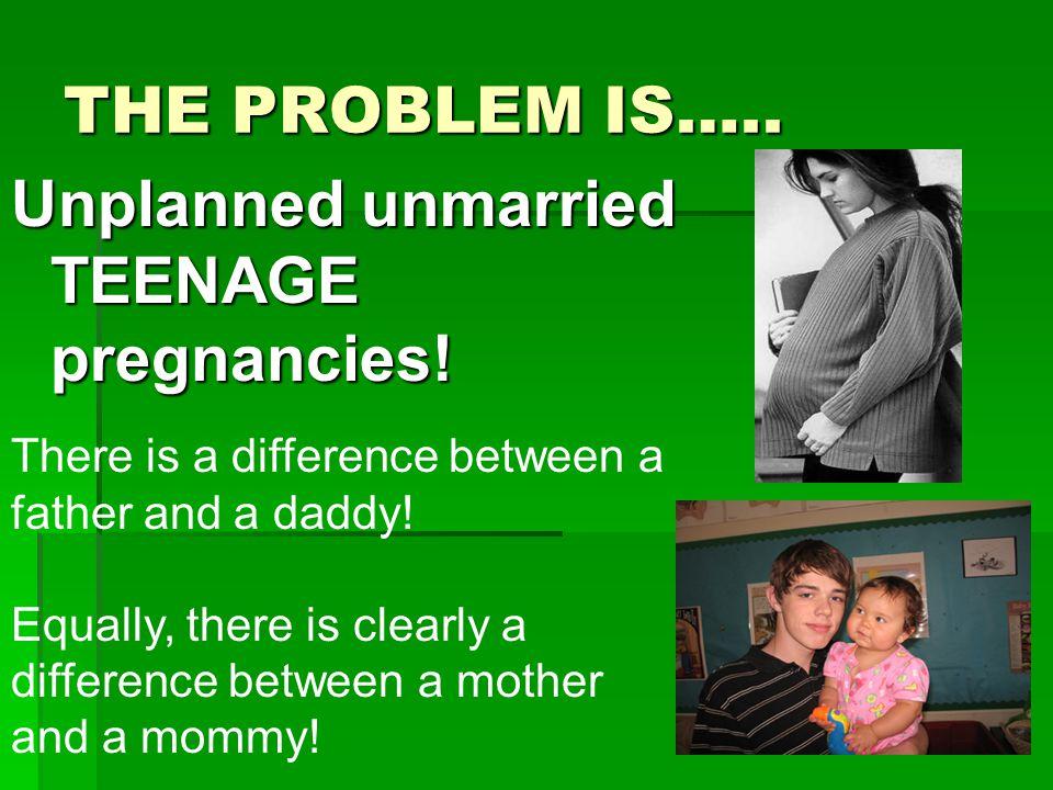 Unplanned unmarried TEENAGE pregnancies!