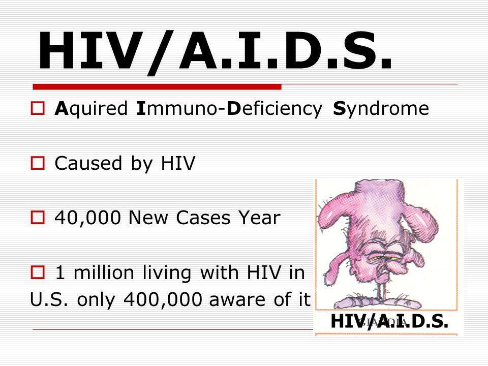 HIV/A.I.D.S. Aquired Immuno-Deficiency Syndrome Caused by HIV