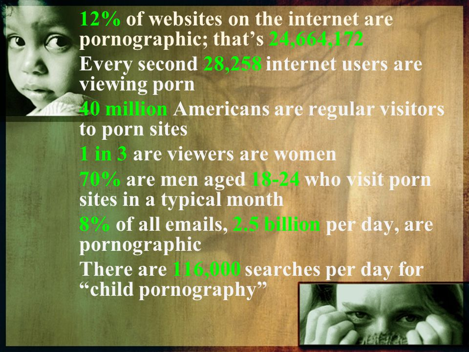 12% of websites on the internet are pornographic; that's 24,664,172