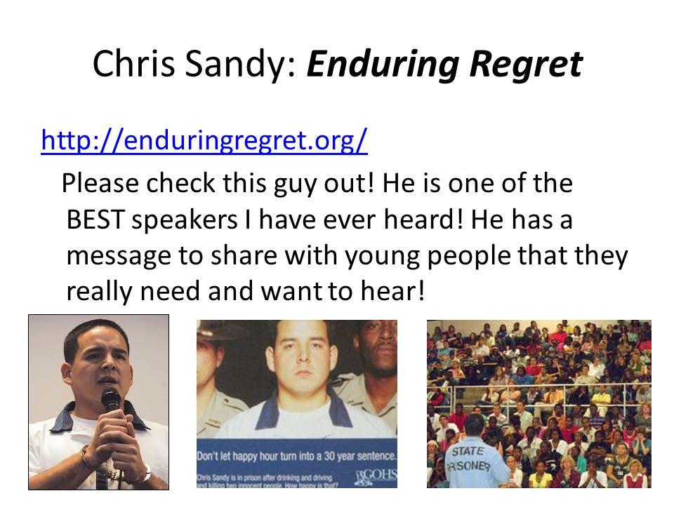 Chris Sandy: Enduring Regret