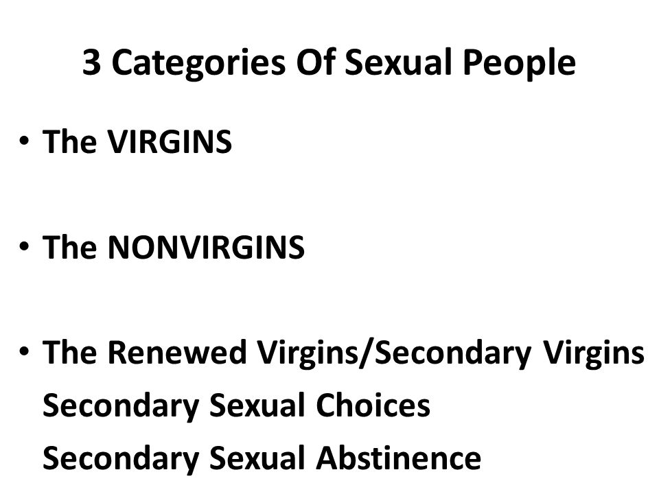 3 Categories Of Sexual People