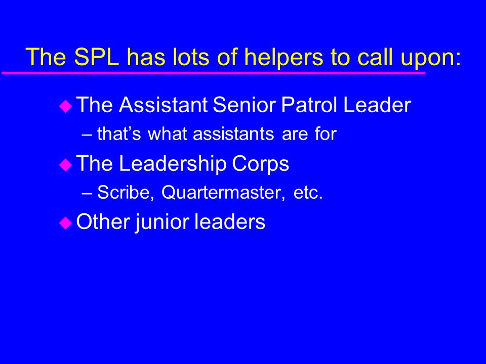 The SPL has lots of helpers to call upon: