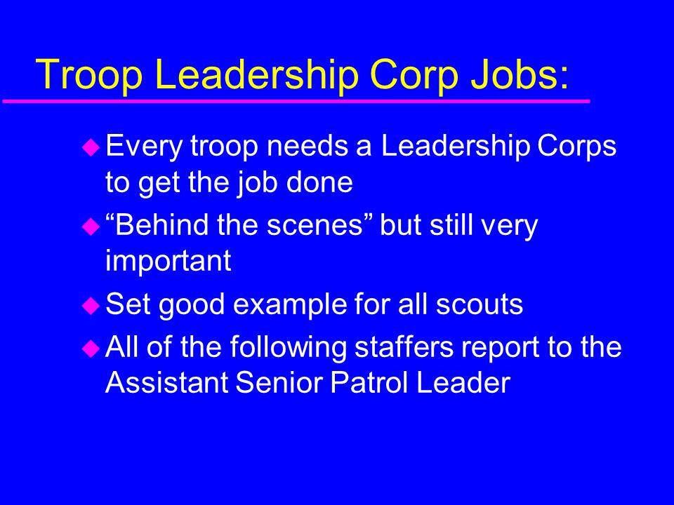 Troop Leadership Corp Jobs: