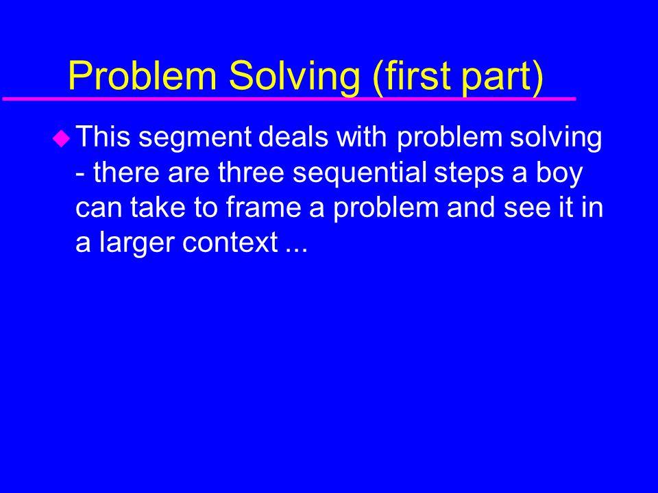 Problem Solving (first part)
